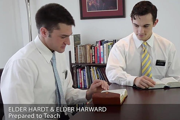 Handsome Elder Hardt & Elder Harward have a hot bareback flip-flop with hot creampie in Prepared To Teach at Mormonboyz
