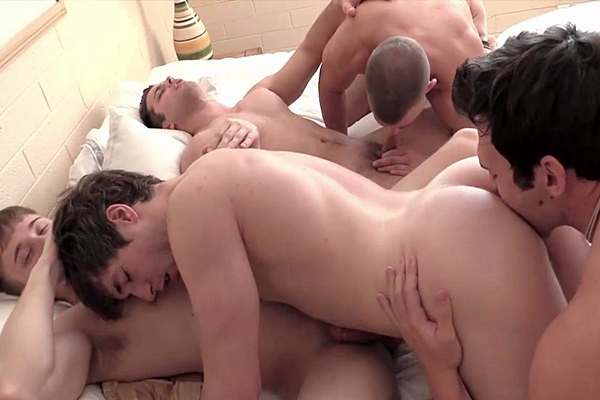 A sneak peek of five hot jocks Cole Money, Dmitry Dickov, JJ Swift, Jaden Storm and Phillip Anadarko having a hot orgy at Gayhoopla
