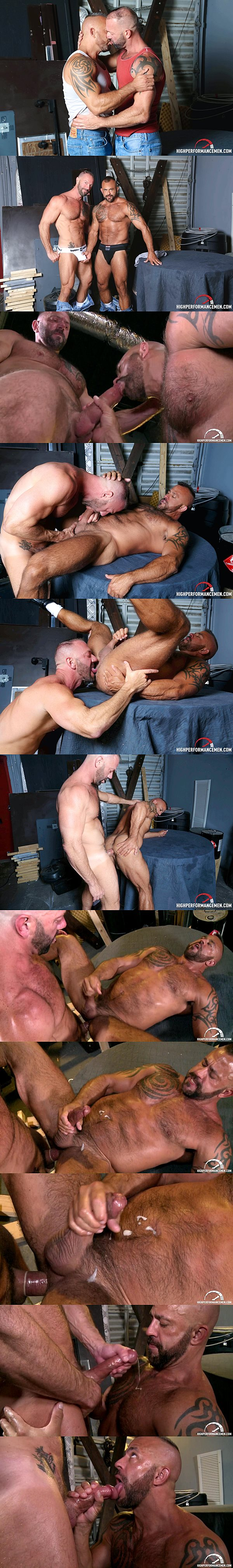 Real life lovers muscular hunks Vic Rocco fucks the cum out of Jon Galt in Passionate Couple at Highperformancemen 02