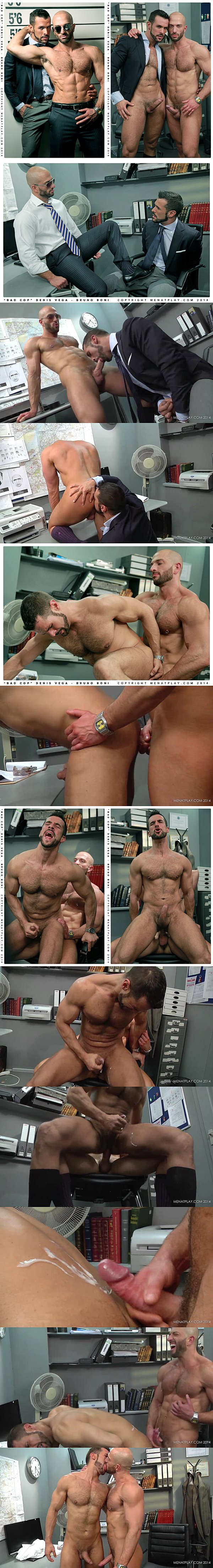 Hot Italian stud Bruno Boni fucks the cum out of Debis Vega in Bad Cop at Menatplay 02
