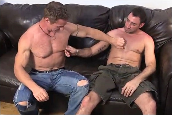Brock blows hot muscular ginger hunk Jamie before he strokes a big load out of Jamie's hard cock in Ginger Redux at Newyorkstraightmen