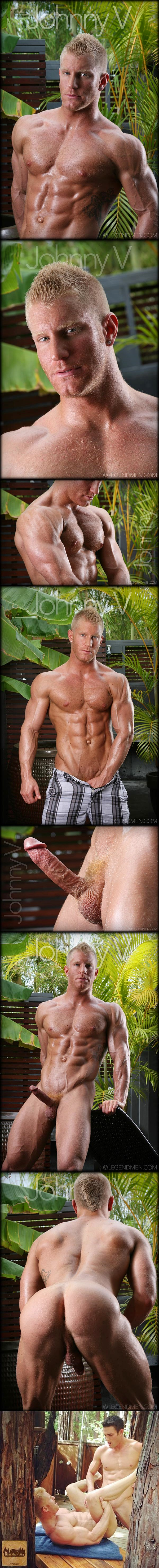 Handsome blond muscle stud Johnny V will get his tight ass fucked by Ryan Rose at Falconstudios 01