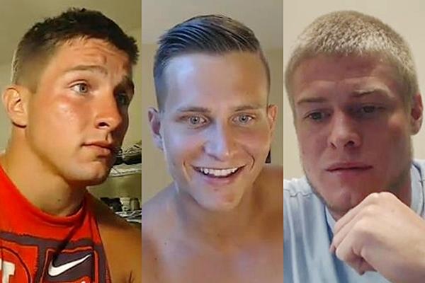 Hot athletic jocks Ajay Laws, Hank Young and Prestin Presley have hot jackoff webcam at Gayhoopla