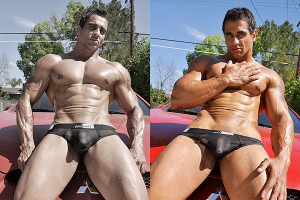 Sexy macho hunk Apollo has a carwash before he strokes a big load out of his hard dick in Hot Ride at Jimmyzproductions