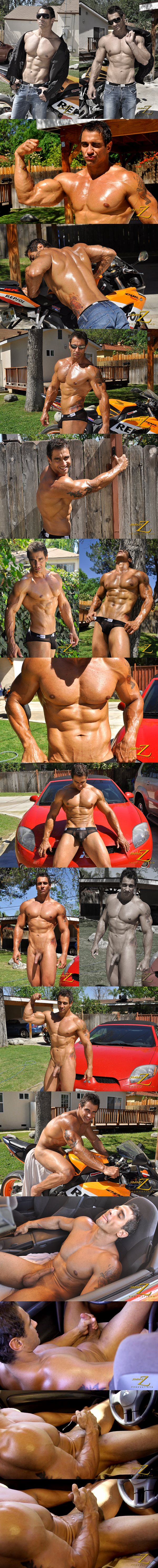 Sexy macho hunk Apollo has a carwash before he strokes a big load out of his hard dick in Hot Ride at Jimmyzproductions 01