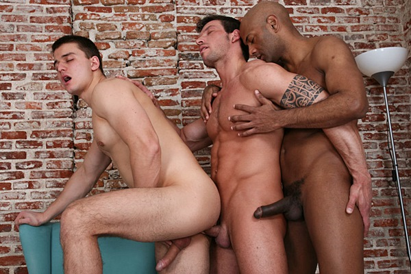 Hot black stud William Bravo barebacks handsome Rado Zuska & Jan Faust in Men In The City - Reboot at Kristenbjorn