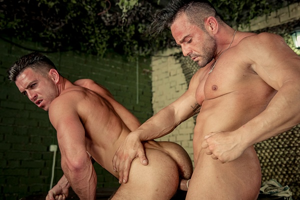 Masculine straight bodybuilder Alex Brando fucks Paddy O'Brian in Prisoner of War Part 2 at Drillmyhole