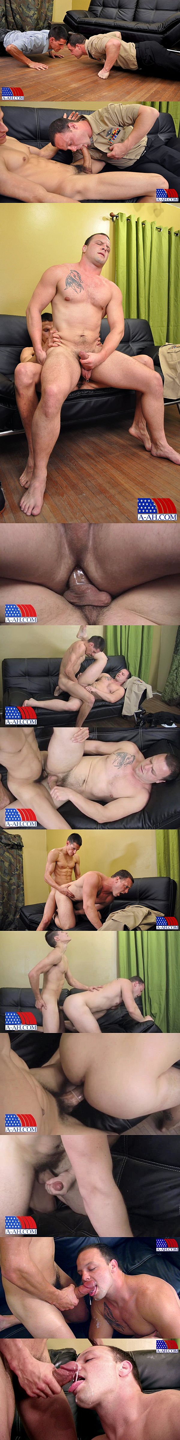 Big-dicked Eddy fucks macho hunk Logan's tight virgin hole in Petty Officer Eddy Fucks Navy Corpsman Logan at All-americanheroes 02