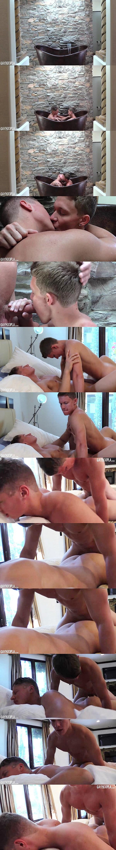 A sneak peek of hot blond jock Jason Keys fucking sexy Christian Borski's tight muscle ass at Gayhoopla 01