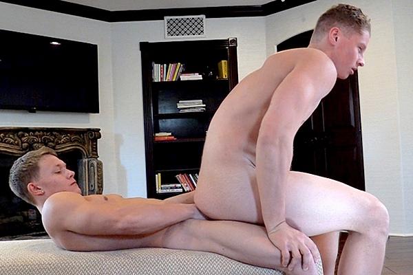 Jason Keys and Christian Borski make out like real lovers before Jason Keys fucks Christian's tight bubble butt at Gayhoopla