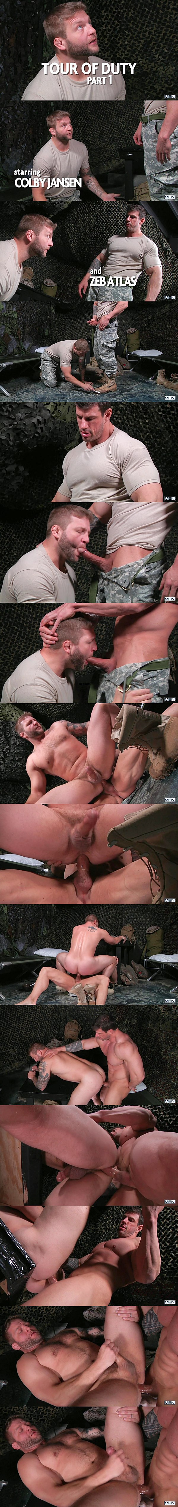 A sneak peek of Zeb Atlas fucking Colby Jansen in Tour Of Duty Part 1 at Drillmyhole 01