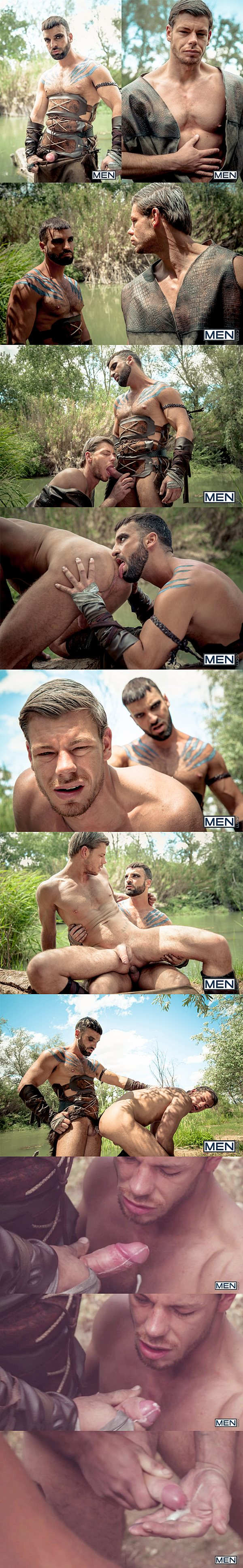 Masculine Arab hunk Abraham Al Malek fucks Toby Dutch in Gay Of Thrones Part 1 at Drillmyhole 02