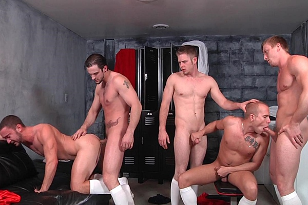 A sneak peek of Phenix Saint and Tom Faulk fucking Colt Rivers, Rob Ryder and Steve Stiffer in Score Part 3 at Jizzorgy