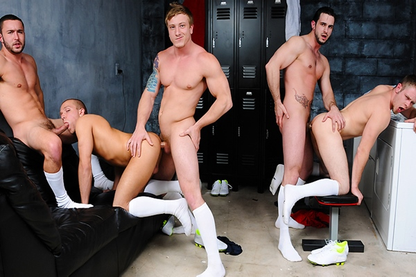 A sneak peek of Phenix Saint and Tom Faulk fucking Colt Rivers, Rob Ryder and Steve Stiffer in Score Part 3 at Jizzorgy 01