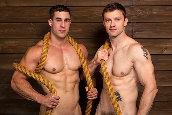 Randy barebacks Dennis before he fucks two big loads out of Dennis and creampies Dennis' worked hole at Seancody