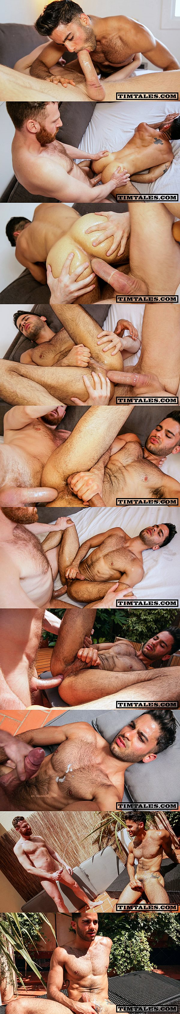 Horse hung Tim Kruger slam cute Brazilian Tony Milan and gives Tony a hot piss shower at Timtales 02