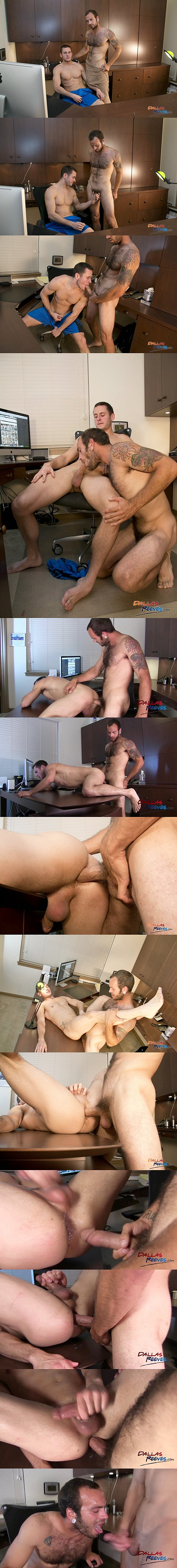 Hairy and hung stud Maxx Fitch barebacks and breeds Dalton Pierce's bubble ass at Dallasreeves 02
