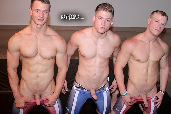 Upcoming new scenes starring hot muscle jocks Colt, Daniel Carter, Tyler, Austin, David Vano at Gayhoopla