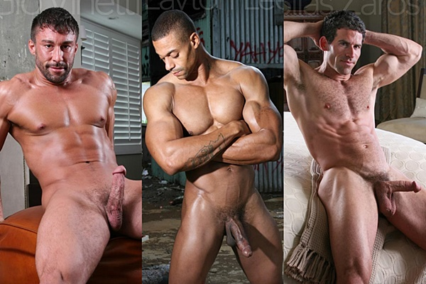 Hot muscle hunks Gio Vinetti, Layton Lee and Silas Zaros shoot their big loads at Legendmen