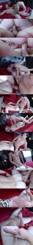 Jack King barebacks hot English lad Zane Anders' tight ass at Masquerademen 02
