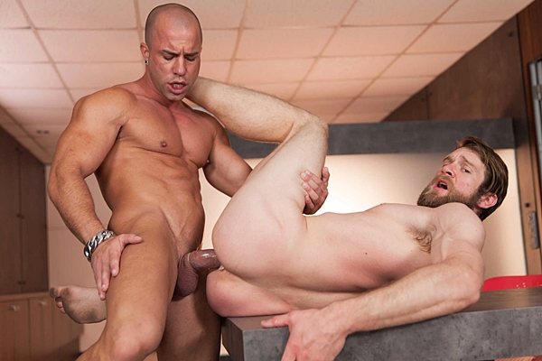 Masculine straight hunk Antonio Aguilera power fucks Colby Keller's hot muscle butt in Special Day at Men