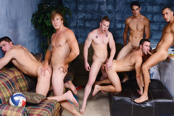 A Sneak Peek of Armando De Armas, Jack King, Owen Michaels and Tom Faulk fucking Colt Rivers and Jake Wilder in Bump Part 3 at Jizzorgy