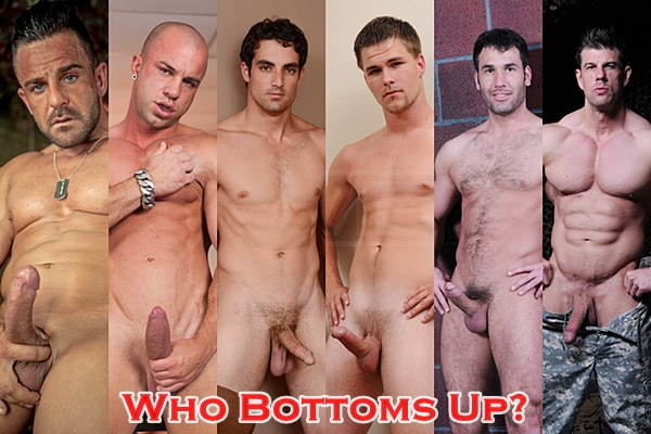 Alex Brando, Antonio Aguilera, Jack King, Jimmy Johnson, Tyler Hunt, Zeb Atlas. Guess who gets his virgin ass fucked in Top to Bottom Part 9 at Men