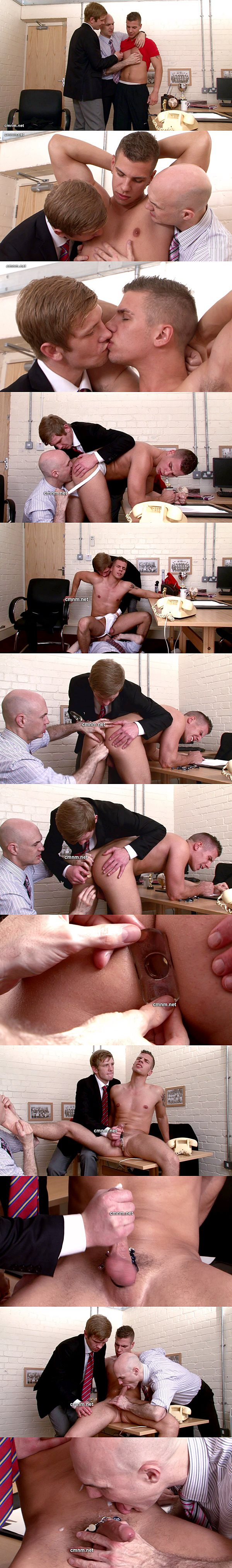 Adrian and Derek dominate hot jock Ashley (aka Paul Walker) and Ashley gets finged, rimmed, dildo-fucked and jerked off at Cmnm 02