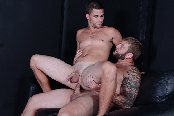 Colby Jansen fucks handsome Jimmy Johnson's tight virgin ass before colby and jimmy shoot their creamy loads simultaneously in Top to Bottom part 9 at Men