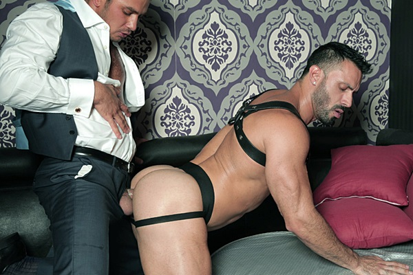 Dato Foland slams Flex's hot muscle ass until they shoot two big thick loads in Hot Shot at Menatplay