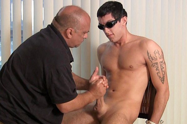 Hot straight jock Vinnie gets edged by a slow handjob until he gets his hot load milked out of his hard cock in Vinnie on Display at Slowteasinghandjobs