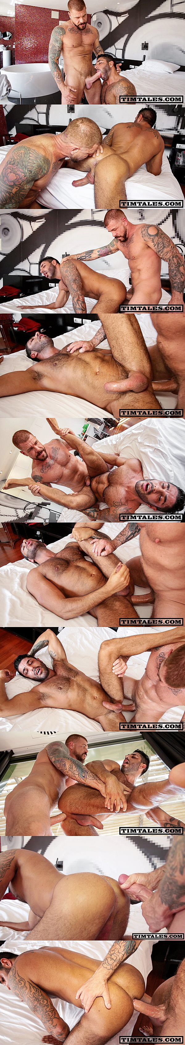 Horse hung macho top Rocco Steele barebacks and breeds sexy muscle bottom Raul Korso at Timtales 02