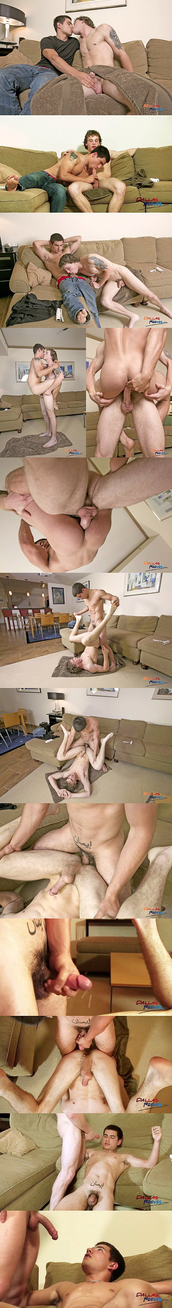 Hot straight jocks Donny Forza and Vadim Black take turns barebacking each other's tight ass at Dallasreeves 02