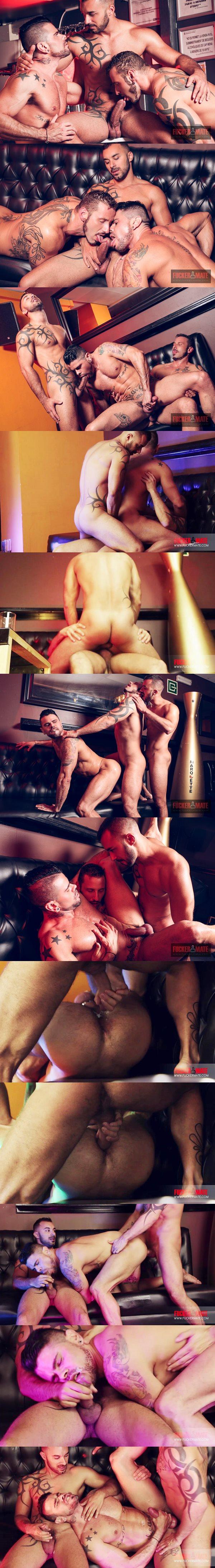 Xavi Duran barebacks real lovers Antonio Miracle & Mario Domenech in Antonio, Mario and Xavi Threesome Wedding Gift at Fuckermate 02