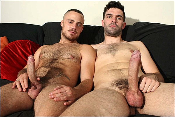 Sexy big-dicked Irish lad Tom Long fucks the cum out of Sam Bishop at Hardbritlads