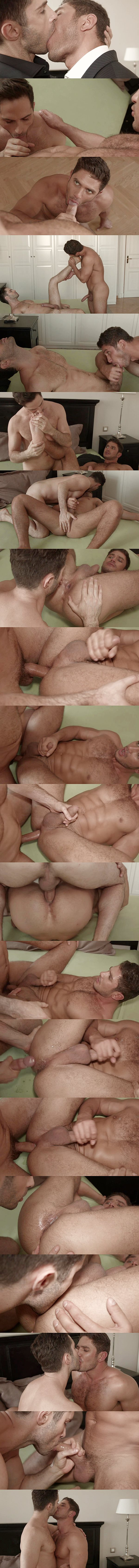 Michael Lucas barebacks hot Russian hunk Dato Foland before he creampies Dato at Lucasentertainment 02