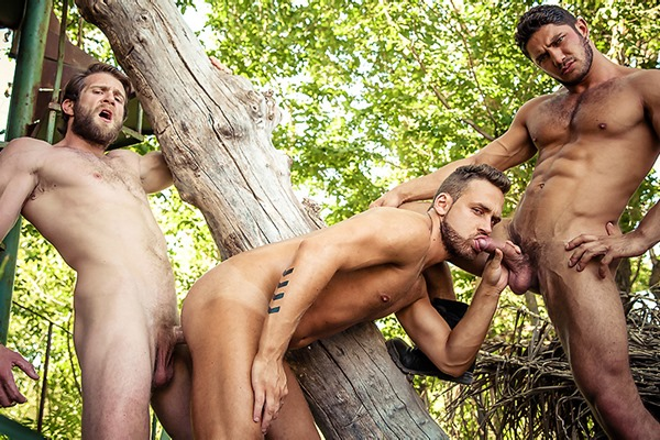 A Sneak Peek of Colby Keller and Dato Foland fucking Logan Moore in Howl Part 3 at Drillmyhole