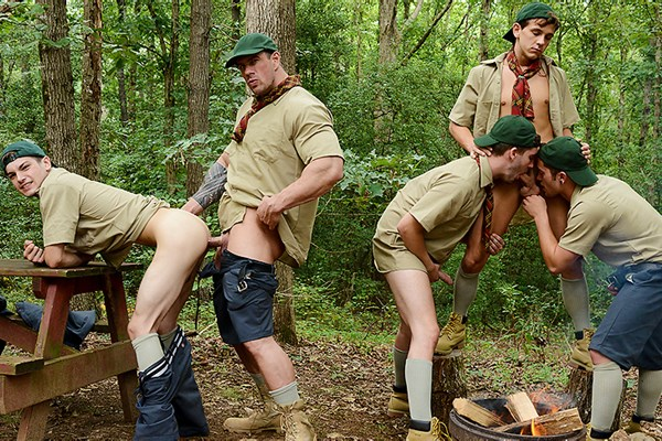 A Sneak Peek of Zeb Atlas fucking CK Steel, Jack Radley, Johnny Rapid and Zac Stevens in Scouts Part 4 at Jizzorgy