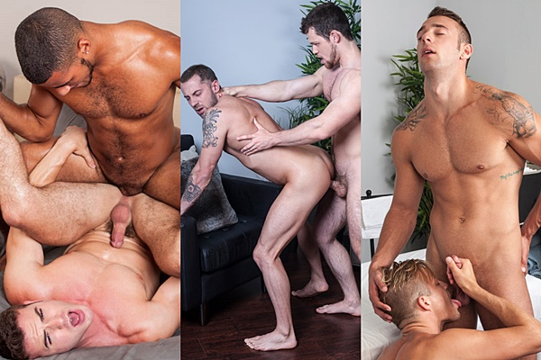 Dominic Santos fucks Killian James, Kurtis Wolfe fucks Tyler Wolf, Ryan Knightly fucks Skylar West at Randyblue