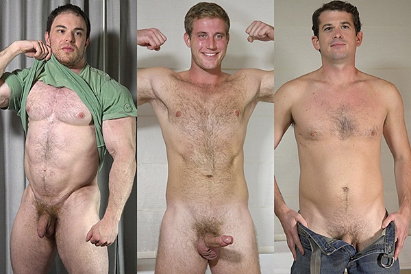 Hot straight studs Brendan, Josh S. and Trevor show off their hot naked bodies before they shoot their creamy loads at Theguysite