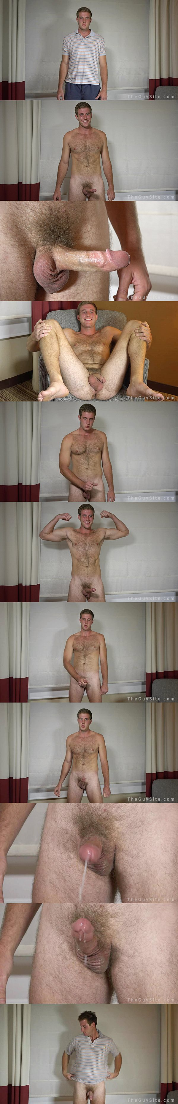 Hot college football player Josh S. has a hand free orgasm in Tight End at Theguysite