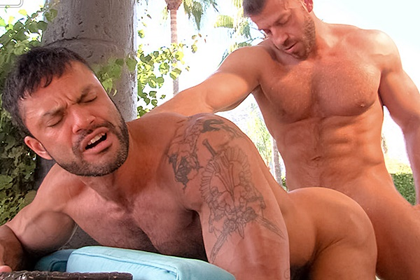 Muscle hunk Hunter Marx fucks hot masculine Rogan Richards' tight muscle ass in Day Into Night at Titanmen