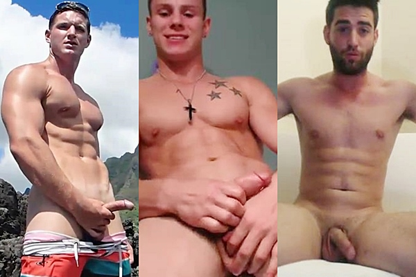 Hot new muscle jocks Danny Klein, Nick Porter and Theodore Richardson shoot their hot loads of cum at Gayhoopla