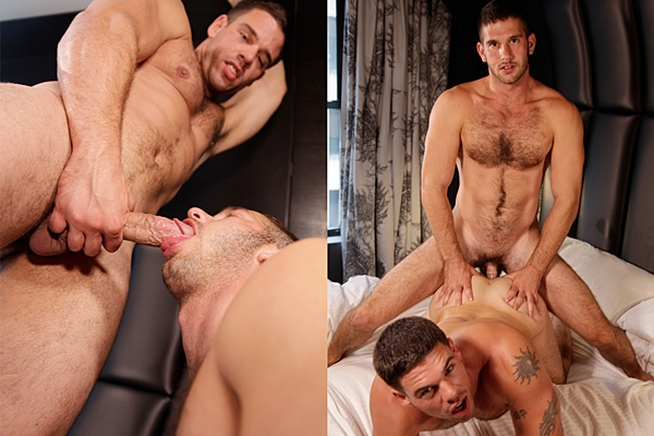 Derek Atlas & Jimmy Fanz fip-fuck until Jimmy fucks the cum out of Derek in Upload Part 2 at Drillmyhole