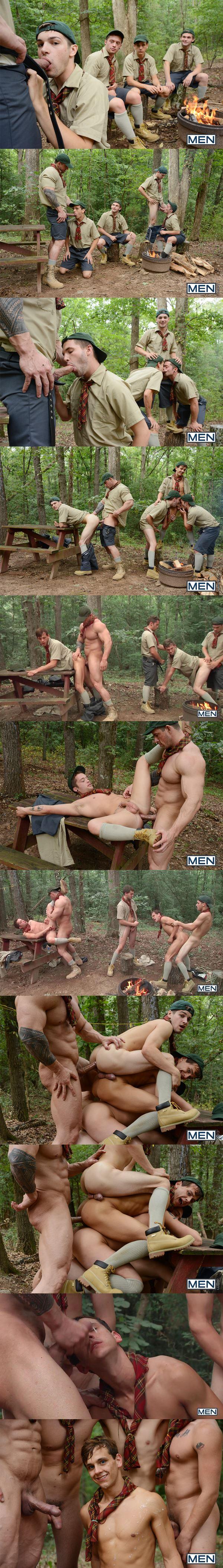 Muscle god Zeb Atlas fucks hot twinks CK Steel, Jack Radley, Johnny Rapid and Zac Stevens in Scouts Part 4 at Jizzorgy 02