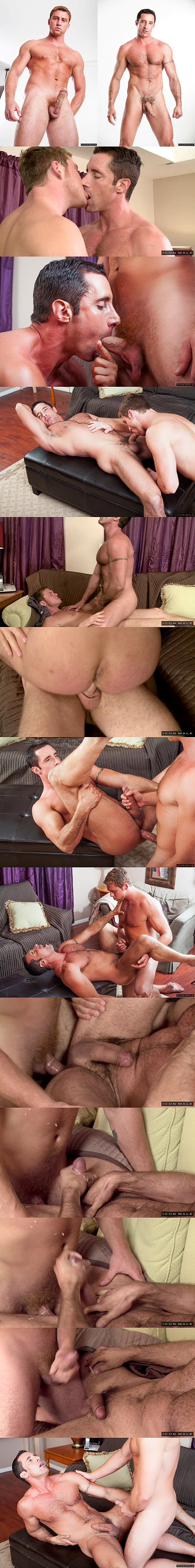 Muscle jock Connor Maguire fucks the cum out of masculine Nick Capra in His Daughter's Boyfriend at Iconmale 02