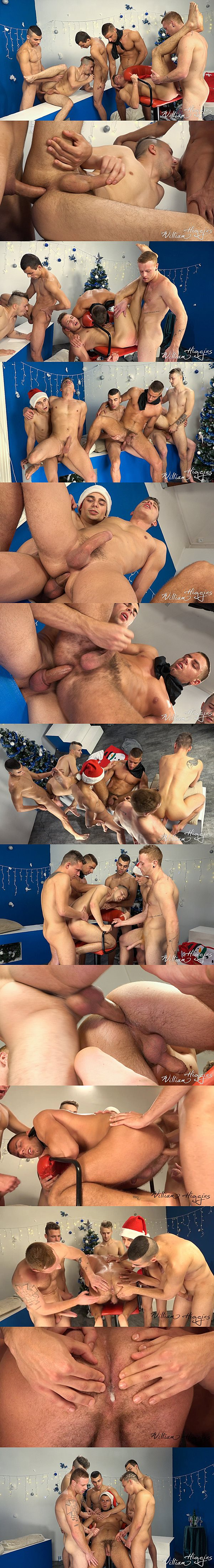 Petr Zuska, Romi Zuska & Tom Vojak Bareback Arny Donan, Hugo Antonin & Tomas Hozman in Xmas Wank Party 2014 Part 2 RAW at Williamhiggins 02