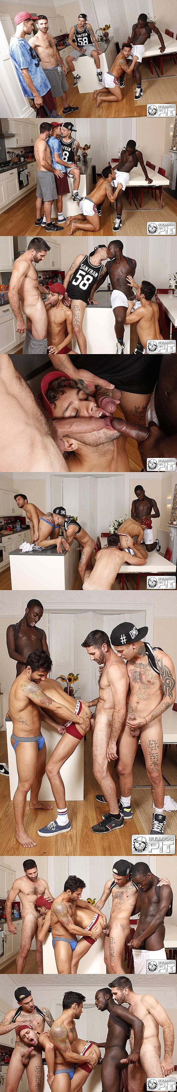 Bruno Bernal, Craig Daniel, Drew Kingston, Marco DuVaul & Mickey Taylor have a hot orgy in Ruined Orgy at Bulldogpit 02
