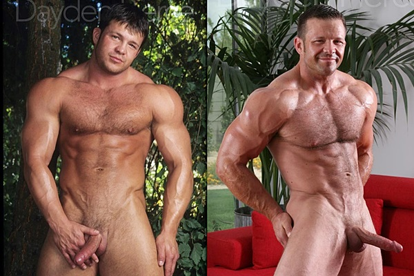 Hot masculine hunk Dayden Pierce strokes his thick cum out of his big dick at Legendmen