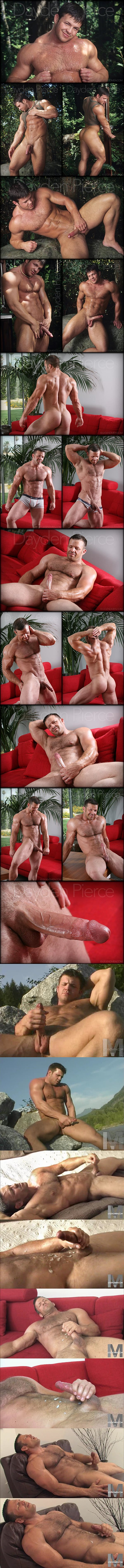 Hot masculine hunk Dayden Pierce strokes his thick cum out of his big dick at Legendmen 01